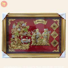 Tính ưu việt của tranh mừng thọ cụ bà bằng đồng so với chất liệu khác (2)